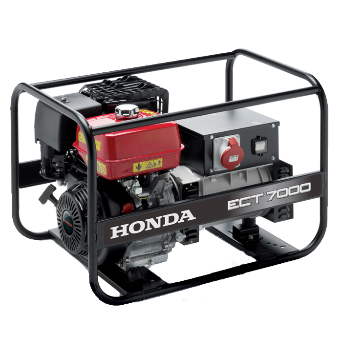 Honda - rámová profesionální elektrocentrála ECT 7000