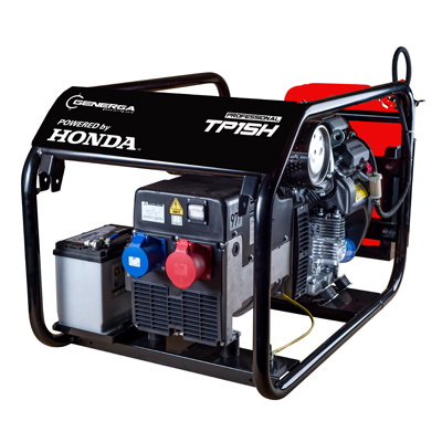 Honda - rámová profesionální elektrocentrála TP 15 H s podvozkem
