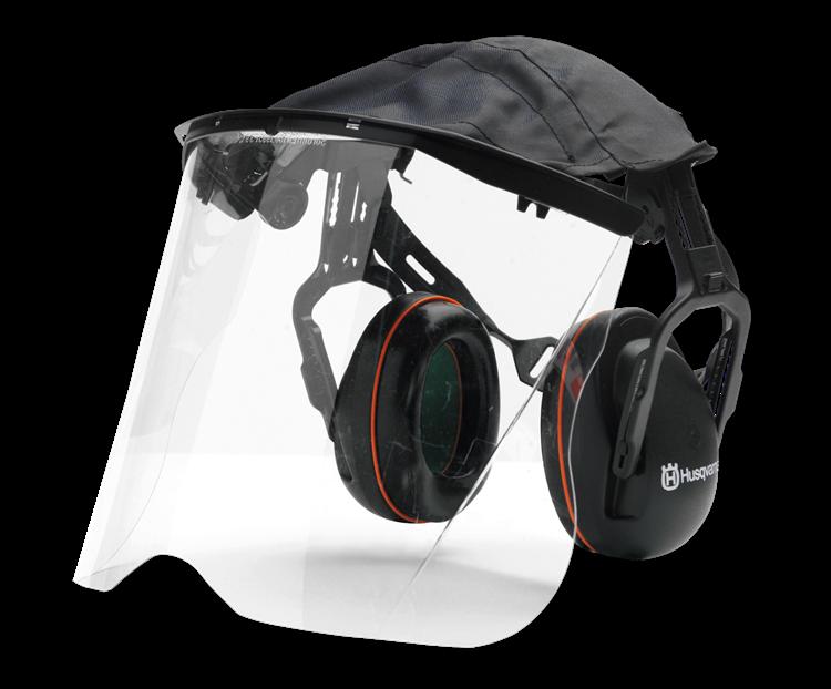 Husqvarna - Štít z plexiskla s chrániči sluchu
