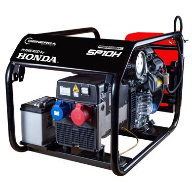 Honda - Rámová profesionální elektrocentrála SP 10 H s podvozkem