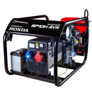 Honda - Rámová profesionální elektrocentrála SP 10 H AVR s podvozkem