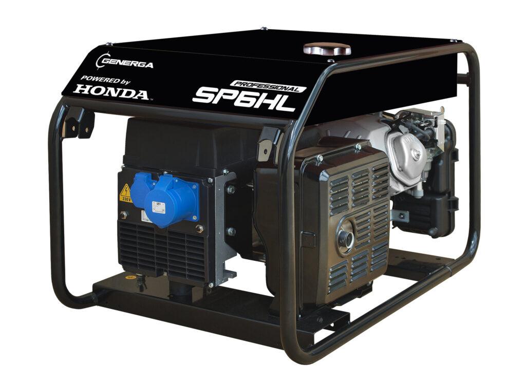 Honda - Rámová profesionální elektrocentrála SP 6 HL