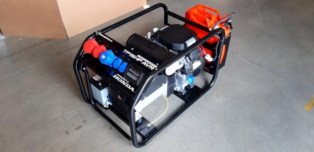 Honda - Rámová profesionální elektrocentrála TP 15 HP AVR s podvozkem
