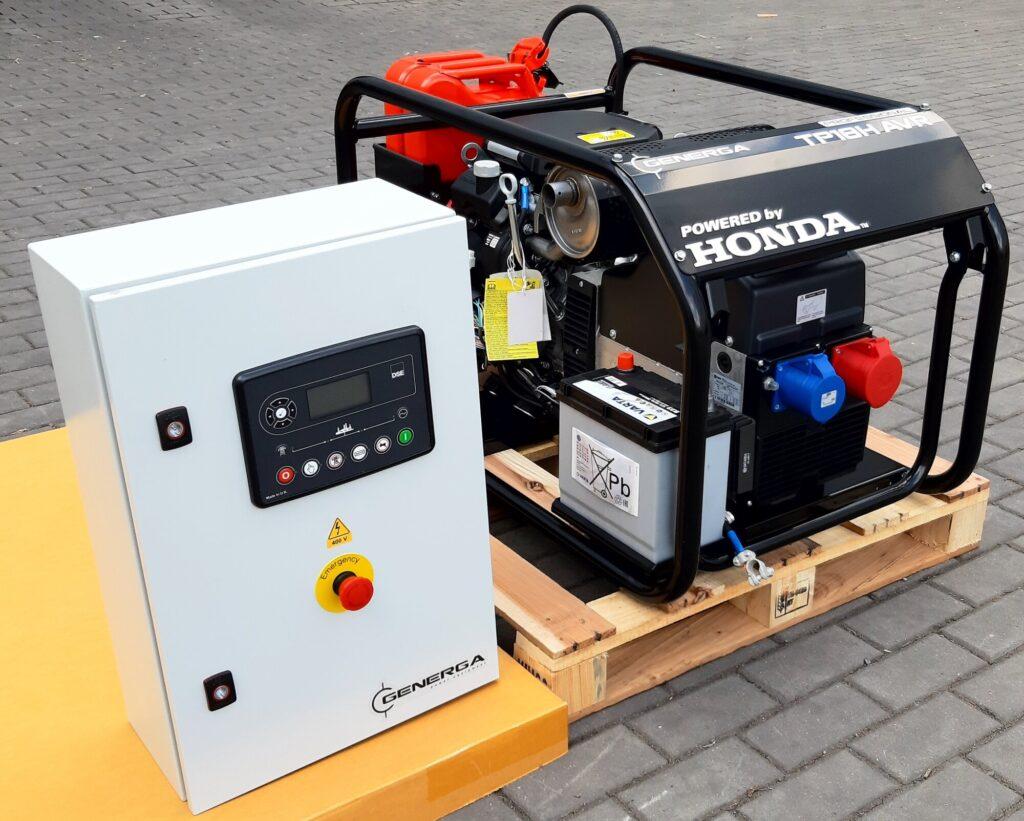 Honda - Rámová profesionální elektrocentrála TP 12 H AVR AMF (s automatikou startu)